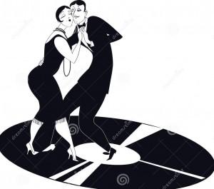 tango-di-dancing-delle-coppie-su-un-annotazione-di-vinile-40607763